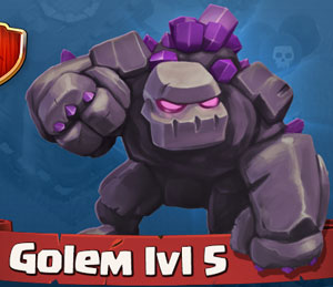《Clash of Clans》石頭人(Golem)詳細數據